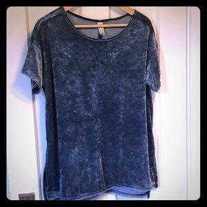 Green Tea | velour loose-fit t-shirt | size L